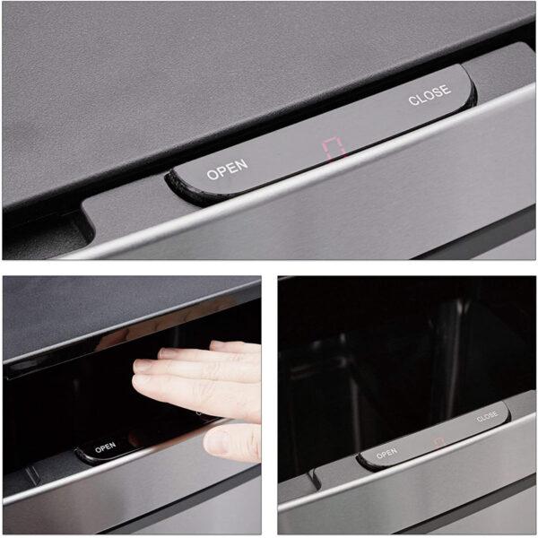 Poubelle de Tri sélectif 60 L à tiroir 3 Compartiments 2x12 L et 36 L au meilleur prix