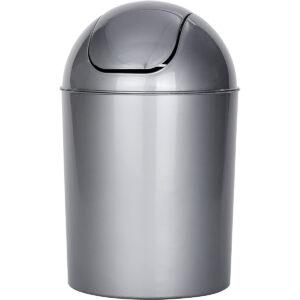Poubelle Salle de Bain 6 L en plastique Couvercle Oscillant au meilleur prix